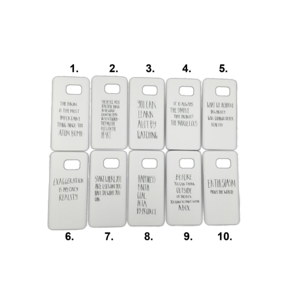 Skal med motiv Samsung S7 MultiColor Motiv 8