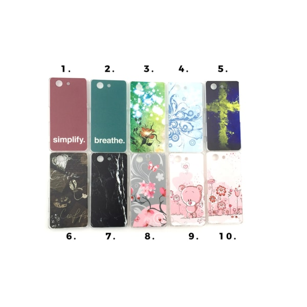 Skal med motiv Sony Xperia Z3 Compact MultiColor Motiv 3