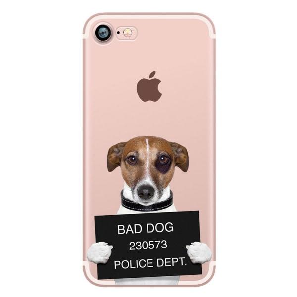 Skal med roliga hund/katt motiv iPhone 6/6S multifärg