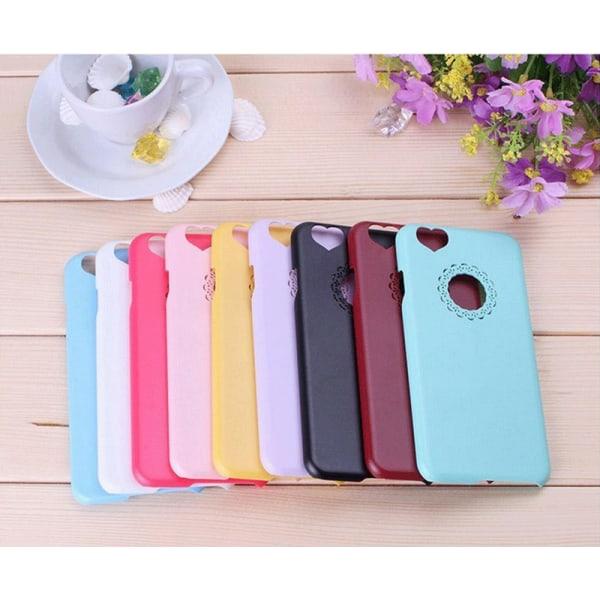 Skal till iPhone 6/6S med hjärtformade kamerahål - fler färger Svart
