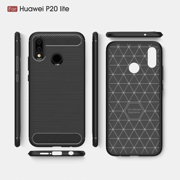 Stöttåligt Armor Carbon TPU-skal Huawei P20 Lite - fler färger Röd
