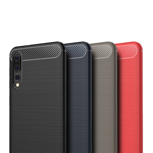 Stöttåligt Armor Carbon TPU-skal Huawei P20 Pro - fler färger grå