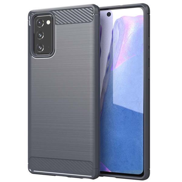 Stöttåligt Armor Carbon TPU-skal Samsung Note 20 - fler färger grå