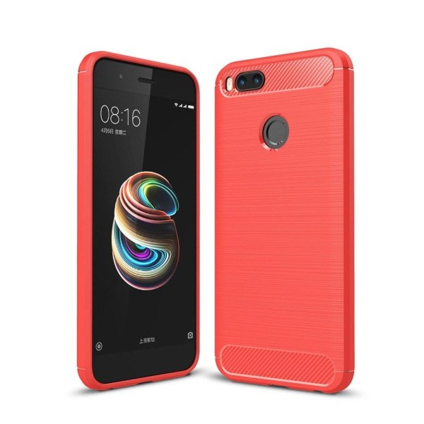 Stöttåligt Armor Carbon TPU-skal Xiaomi Mi A1 - fler färger Röd