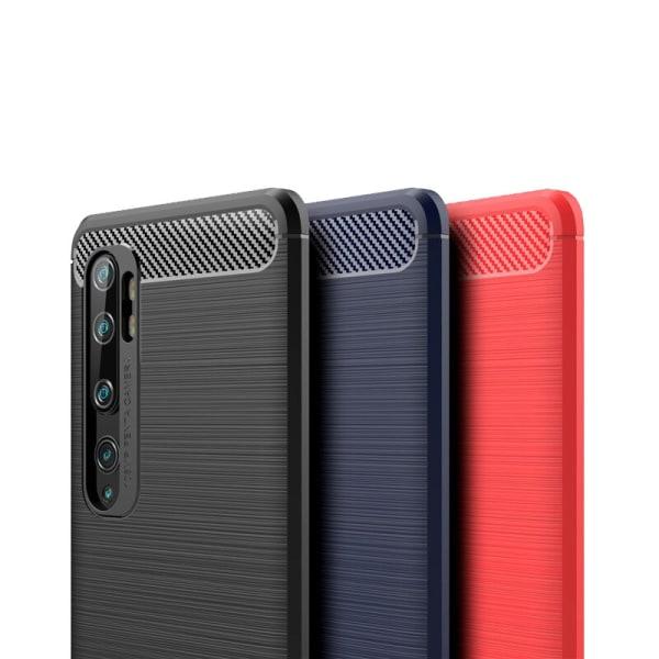 Stöttåligt Armor Carbon TPU-skal Xiaomi Mi Note 10 / Note 10 Pro Blå