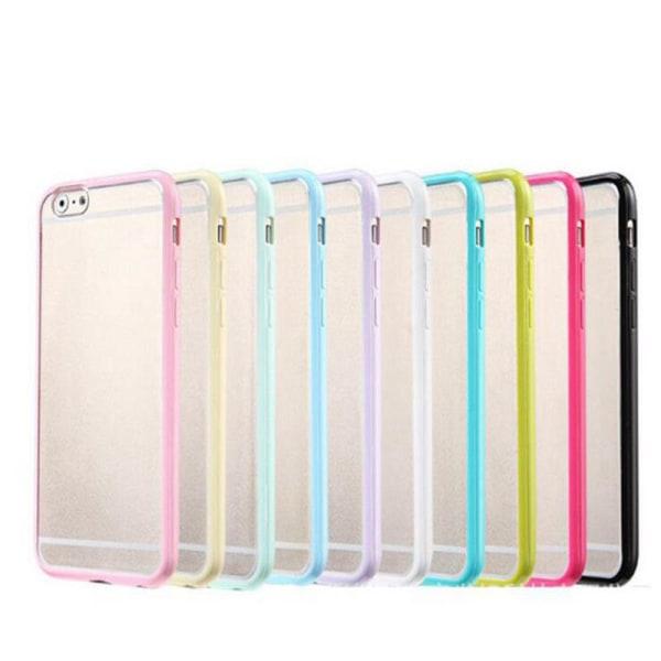 Transparent frostat skal med färgad ram iPhone 6/6S Plus - fler  Svart