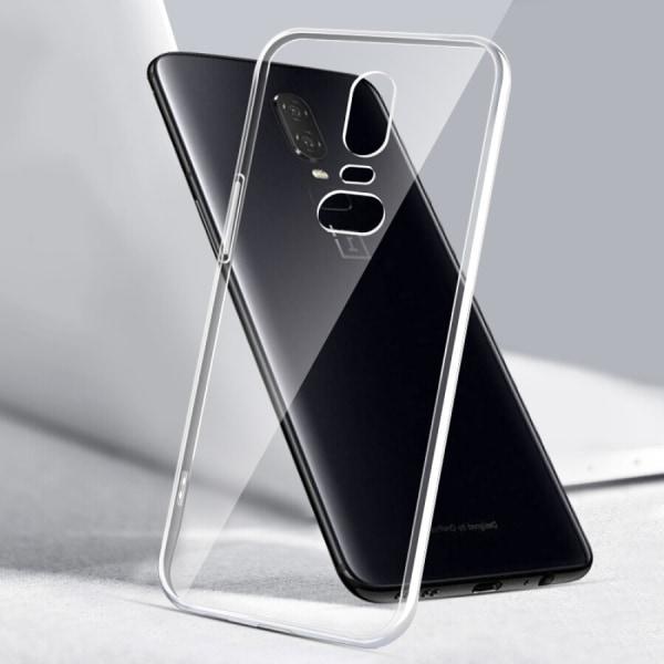 Transparent Silikon TPU-Skal till Oneplus 6 Transparent