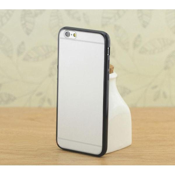 Transparent skal med färgad ram iPhone 6/6S - fler färger Svart