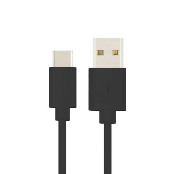 1m USB-C Laddkabel Quick Charge 3A Type-C Svart svart