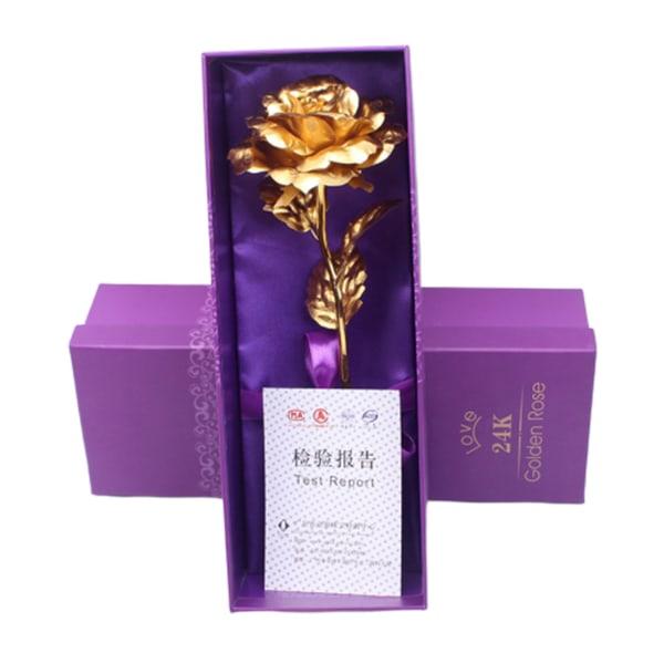 24 Karat Guldpläterad Ros Guldros 24k i Gåvoförpackning guld