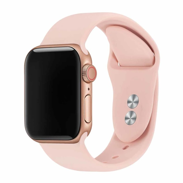 Apple Watch 38/40 1/2/3/4/5/6/SE Rosa Silikonarmband Silikon rosa