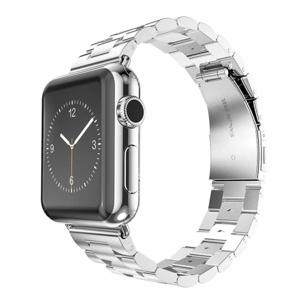 Apple Watch 38/40 1/2/3/4/5 Stainless Metall Silver Klockarmband silver