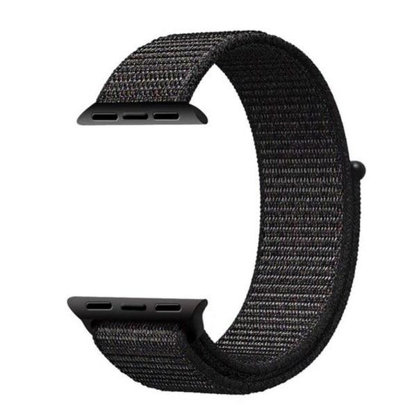 Apple Watch 38/40 Nylonarmband Svart Sportloop Kardborreband svart