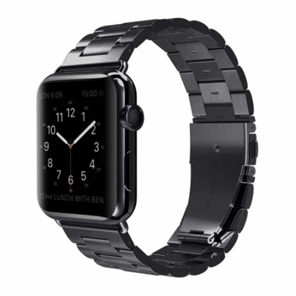 Apple Watch 42/44 1/2/3/4/5 Stainless Metall Svart Klockarmband svart