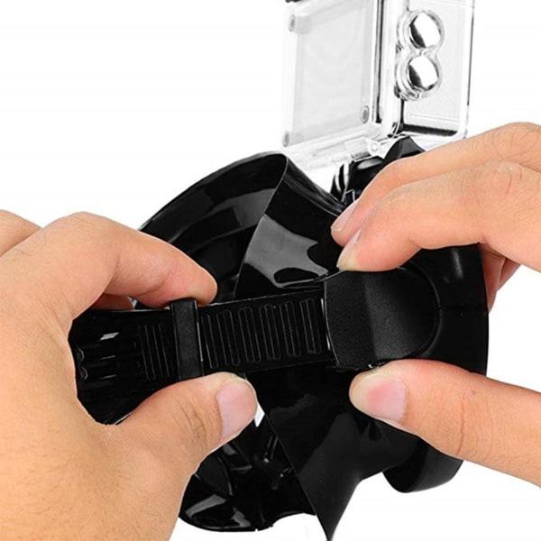 Cyklop med Kamerafäste för GoPro Actionkamera Dykmask svart
