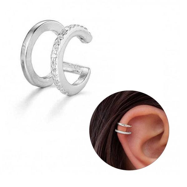 Fake Helix Piercing Öron Örhänge Ear Cuff utan Hål Silver silver