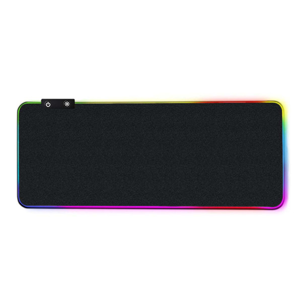 Gaming LED RGB Skrivbordsunderlägg 80x30cm svart