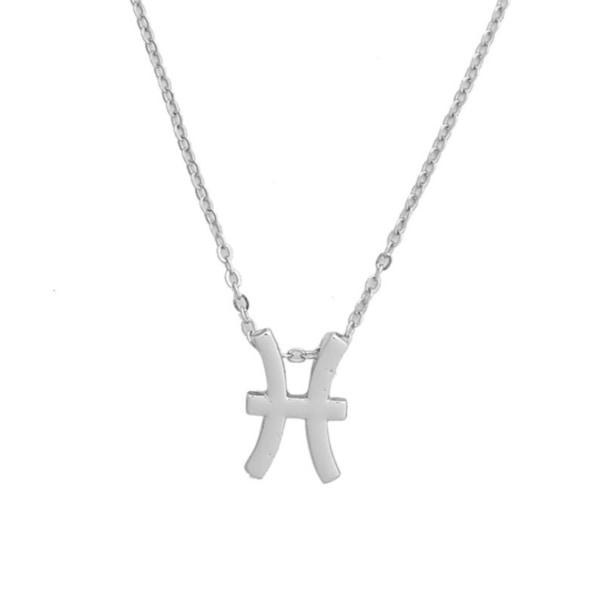 Gåvohalsband Stjärntecken Fiskarna Pisces Halsband silver