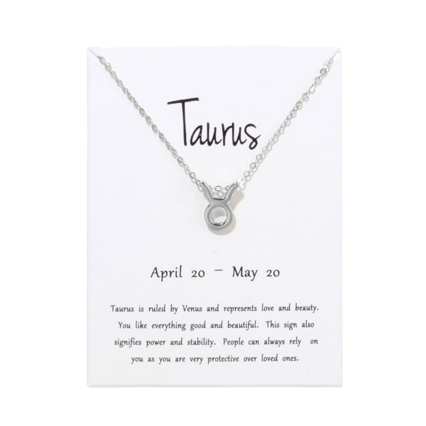 Gåvohalsband Stjärntecken Oxen Taurus Halsband silver