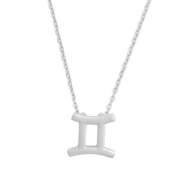 Gåvohalsband Stjärntecken Tvillingarna Gemini Halsband silver