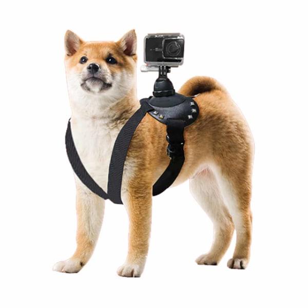 GoPro Hundsele Bröstbälte för Hund Väst POV Mount Actionkamera svart