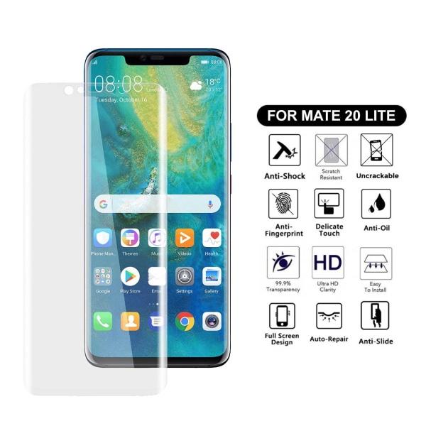 Heltäckande Huawei Mate 20 Lite Skärmskydd Nanoedge Skyddsplast transparent