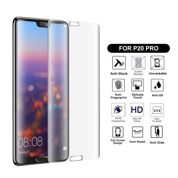Heltäckande Huawei P20 Pro Skärmskydd Nanoedge Skyddsplast transparent