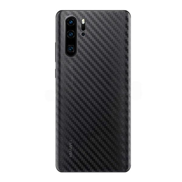 Huawei P30 Lite Kolfiber Vinyl Skin Dekal Skyddsfilm Carbon transparent