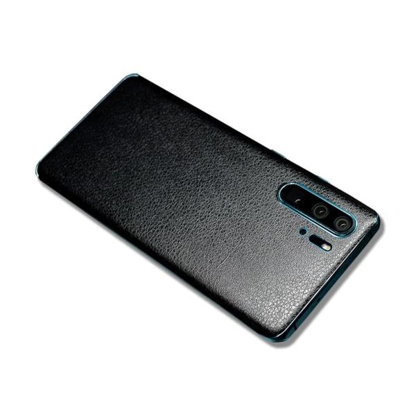 Huawei P30 Pro Skinn Läder Vinyl Skin Wrap Dekal Skyddsfilm svart