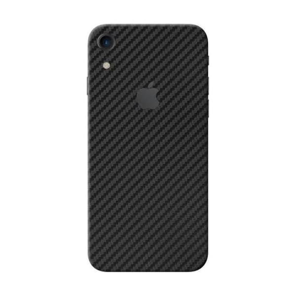 iPhone XR Kolfiber Vinyl Skin Wrap Baksida transparent