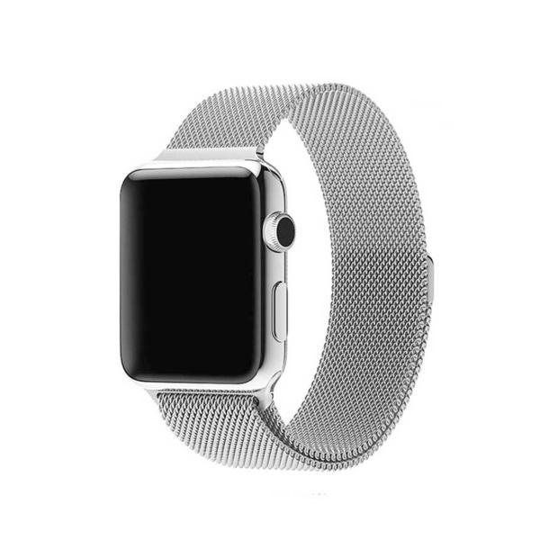 Klockarmband för Apple Watch 1/2/3/4/5 Milanese Mesh 38/40 silver