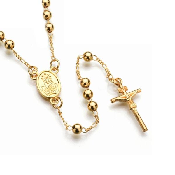 Långt Guldpläterat Halsband Radband Guld guld