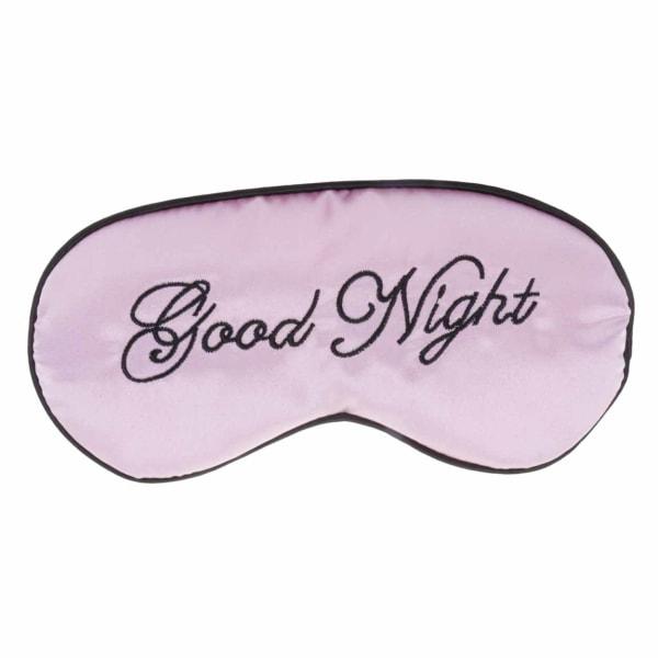 Mjuk Rosa Sovmask Ögonmask i Silke Flyg Resor Good Night flerfärgad one size
