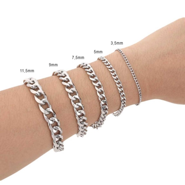 Pansarlänk Armband Kedjearmband Silver 11,5mm silver