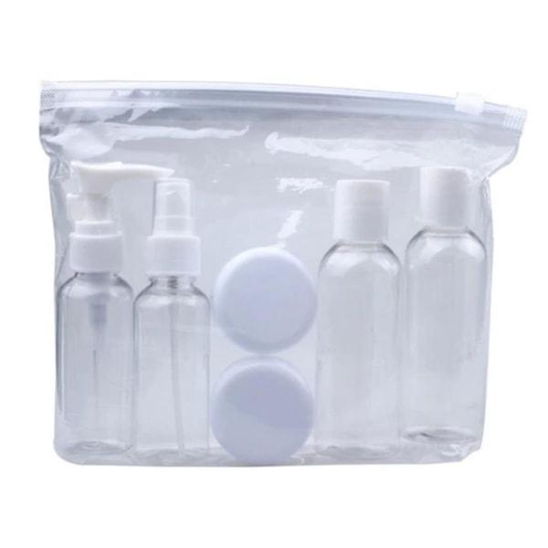 Resekit Tomflaskor Behållare för Handbagage Resa Parfym transparent