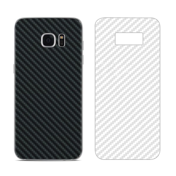Samsung Galaxy S7 Kolfiber Skin Skyddsplast Baksida transparent