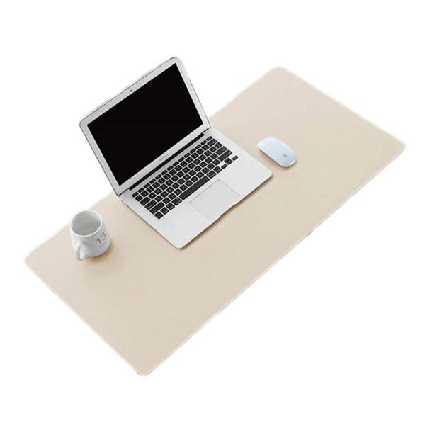 Skrivbordsunderlägg 80x40cm PU Skinn Läder Vit vit