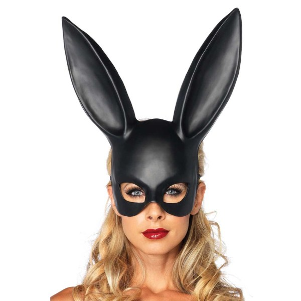 Svart Ögonmask med Kaninöron Maskerad Utklädnad Bunny svart