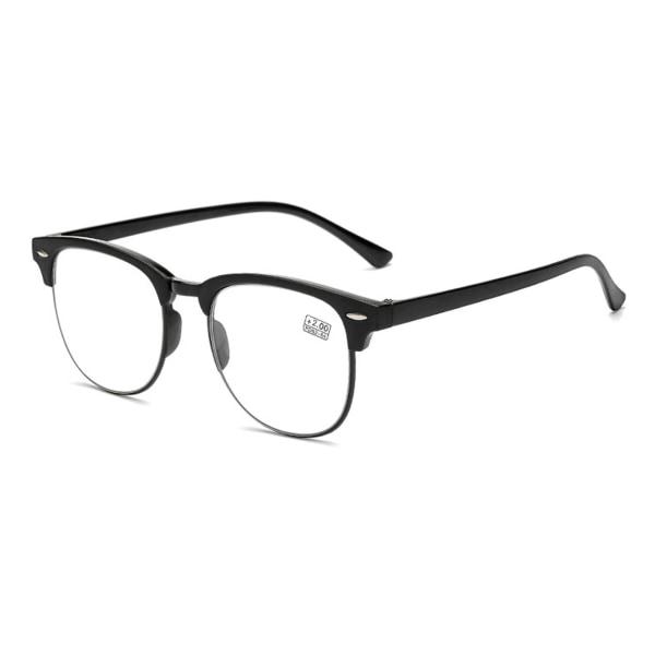 Svarta Clubmaster Läsglasögon Styrka 2.0 Glasögon svart
