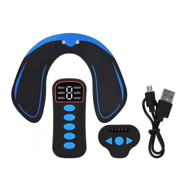 Trådlös Elektronisk Muskelstimulator - EMS Träning Rumpa svart