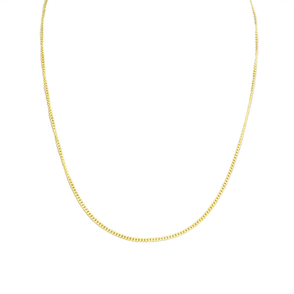 Tunn Guldkedja Kedjehalsband Halsband Kedja Länk Guld 1,8mm guld