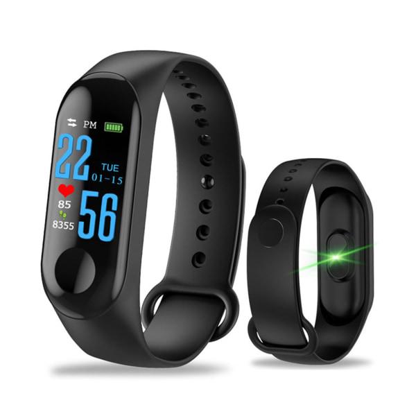 Universalt Bluetooth Aktivitetsarmband Fitnessarmband M3 (Svart) svart