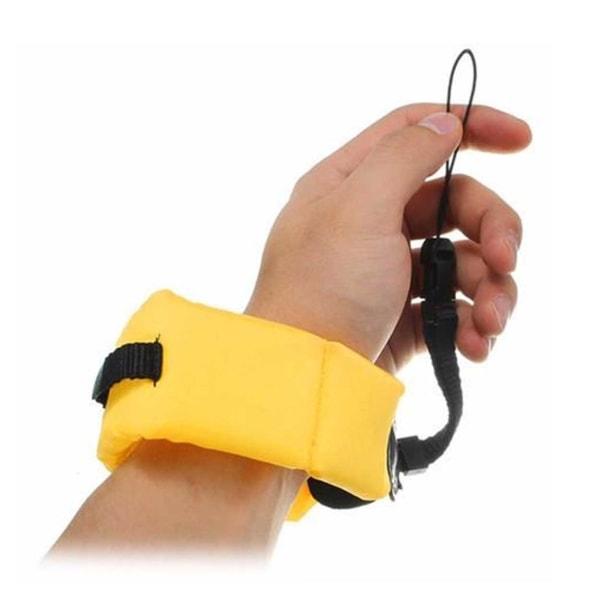 Universalt Flytande Armband Gopro Mobiltelefon Kamera Vattentätt gul