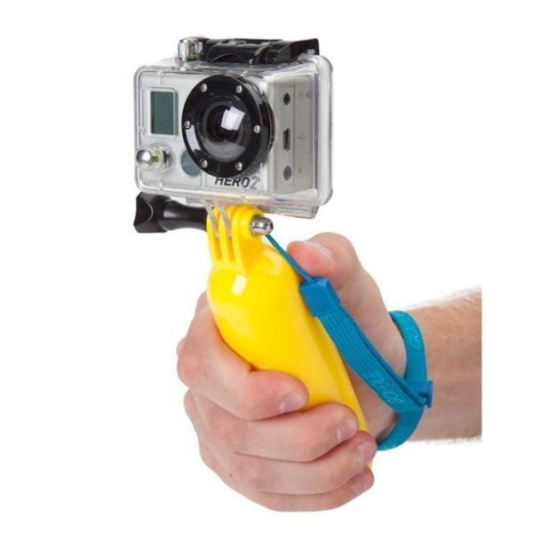 Universalt Flytande Handtag Gopro Actionkamera Kamera gul
