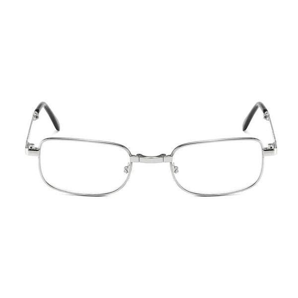 Vikbara Läsglasögon med Fodral Glasögon Styrka 2.0 Silver silver
