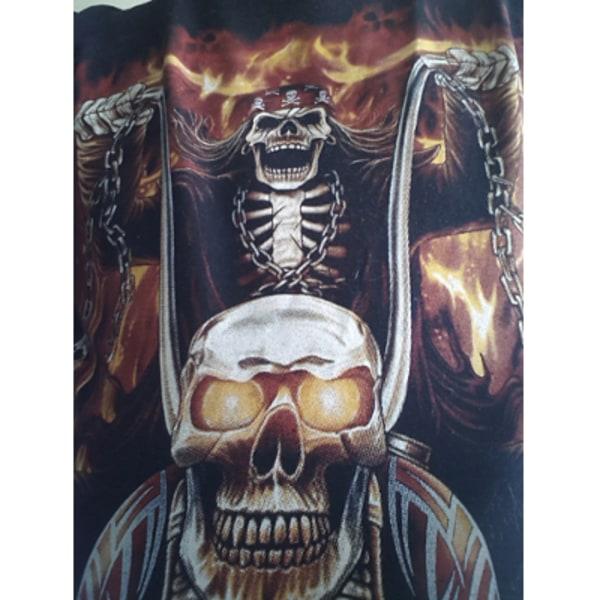 M-Empire - T-Shirt (Långärm) - Dödskalle & Motorcykel M