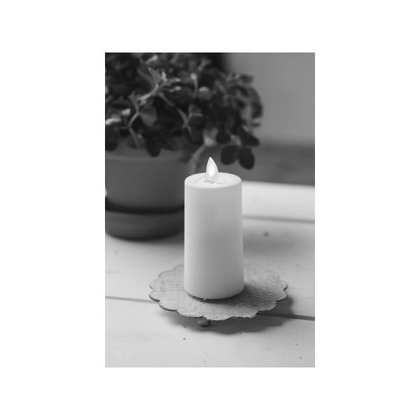 1st 11.5 cm Blockljus med TIMER och låga som rör sig och flimr