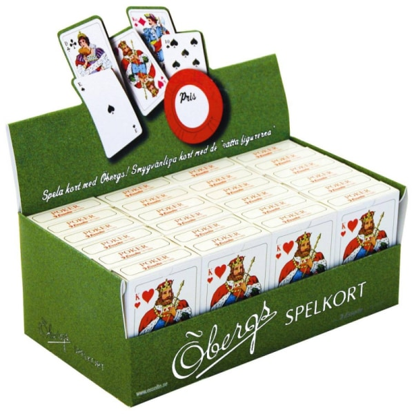 2 Öbergs Riktiga Spelkort Kortlek Poker Patiens Spel Röd