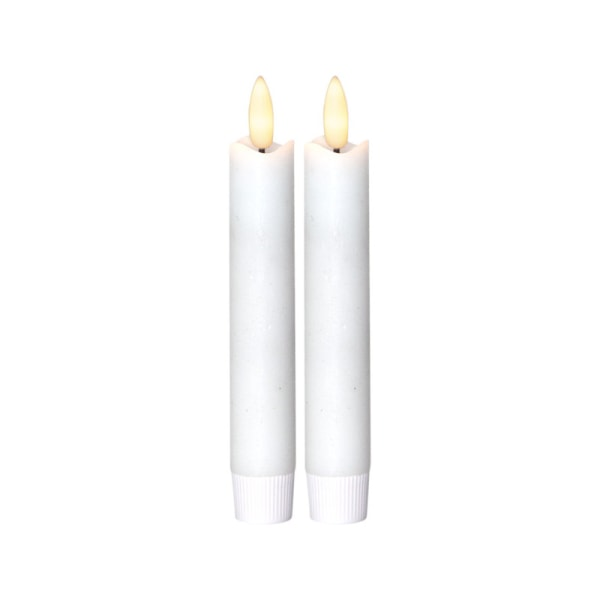 2 st Vax-LED-Antikljus, verklighetstrogen låga, Flamme med TIME