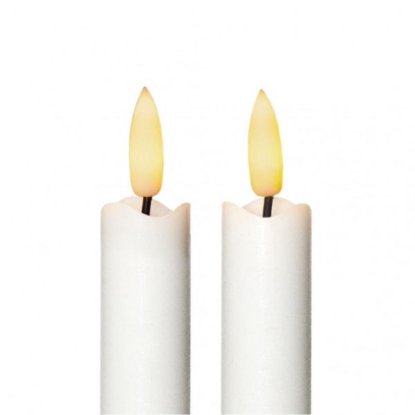 4 st Vax-LED-Antikljus, verklighetstrogen låga, Flamme med TIME